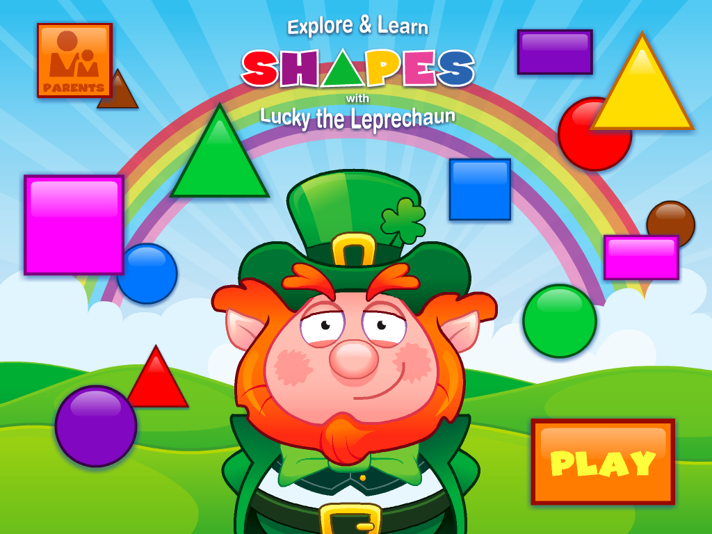 Explore And Learn Shapes App Review - A Pot Of Learning Gold - iPad Kids