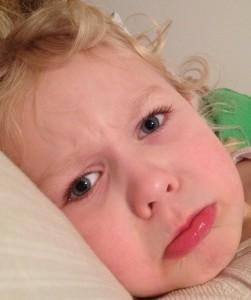 ipad kid upset in bed