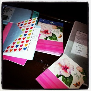 blog thank you cards
