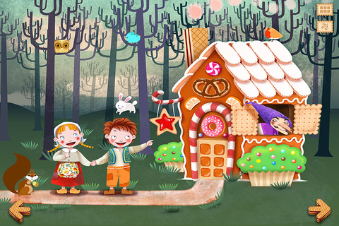 Hansel And Gretel Milkbook App Review - iPad Kids