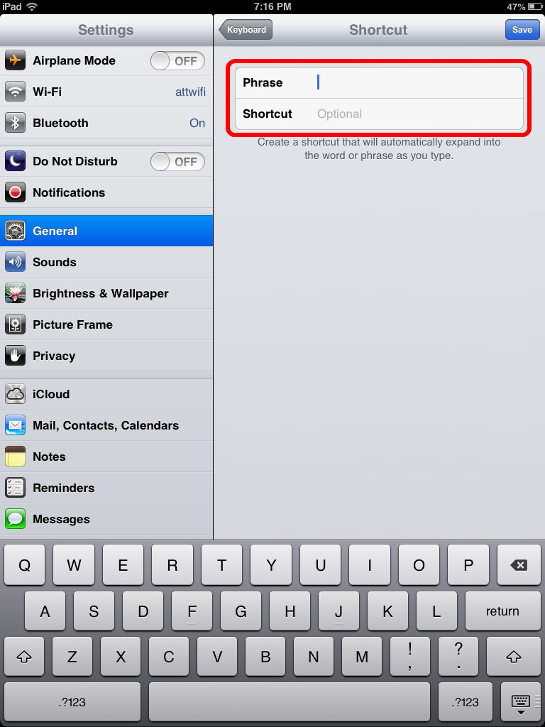 Save Time by Adding Typing Shortcuts to Your iPad - iPad Kids