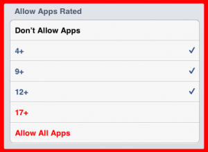 allow apps rated box