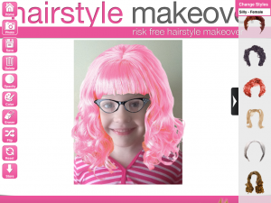blog hair pink