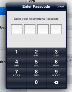 screenshot enter passcode