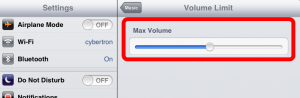screenshot max volume limit