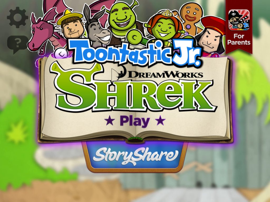 toontastic jr shrek 1