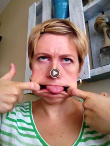 blog video funny face