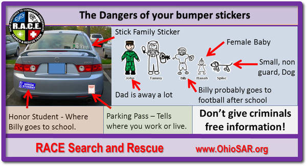 Bumper Sticker Danger