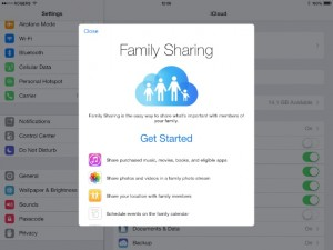ipad family sharing